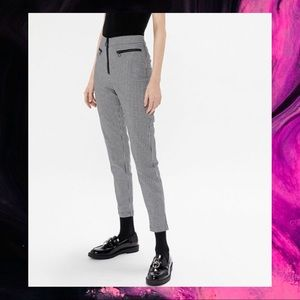 Checkered Pants with O-Ring Details